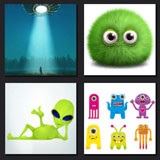 level 8 answers, alien, fluffy green