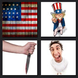 4 pics 1 movie americal flag, knife