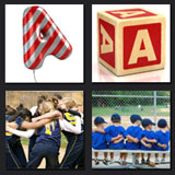 4 pics 1 movie, team, latter A