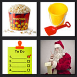 beach bucket, santa, to do list