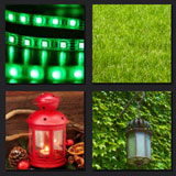 gas lamp, grass, green