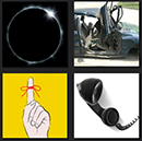 4 pics 1 movie total solar eclipse, car crash