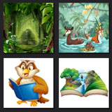4 pics 1 movie fairy tale, animals
