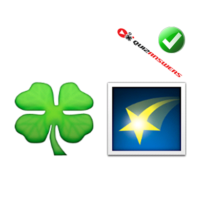https://www.quizanswers.com/wp-content/uploads/2015/01/green-clover-yellow-star-guess-the-emoji.png