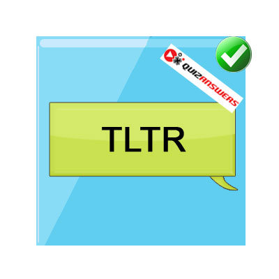 TLTR texting acronyms